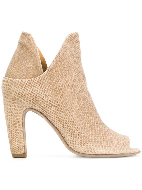 open women ankle boots leather nude shoes