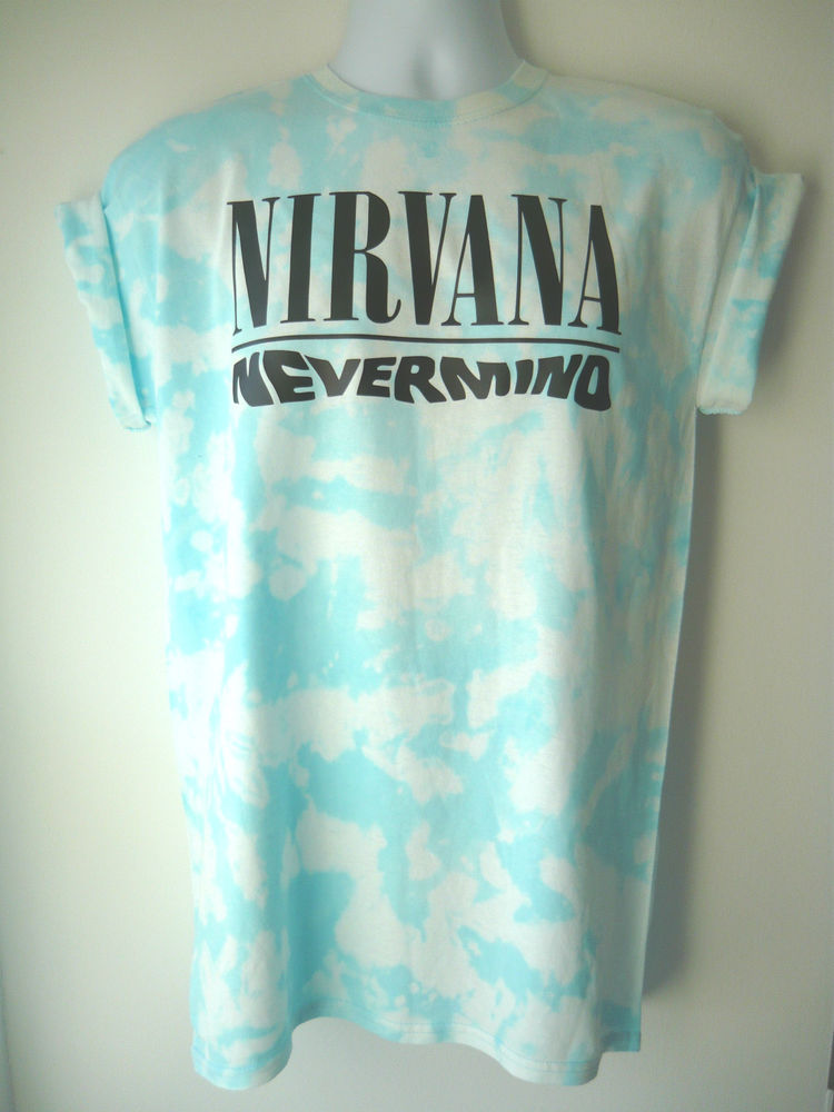 Nirvana nevermind acid wash t shirt grunge indie tie dye retro vintage
