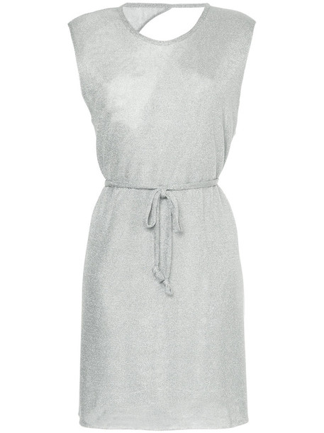dress mini dress mini back women grey metallic