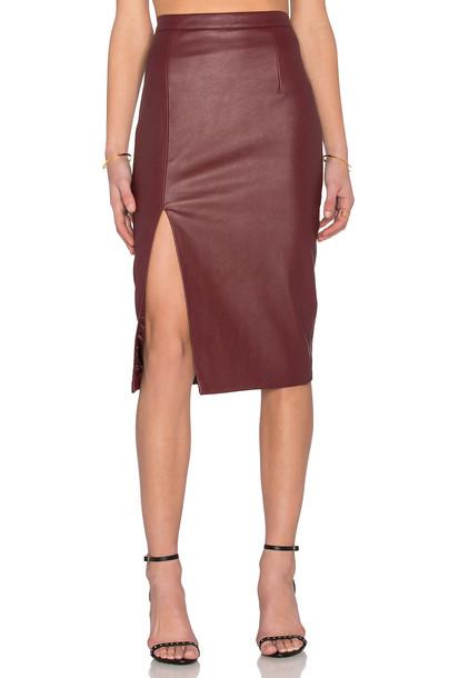 Bardot skirt burgundy