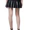 Romwe | romwe pleated pu panel sheer black skirt, the latest street fashion