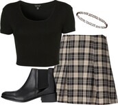 skirt,plaid skirt,plaid,skater skirt,mini skirt,vintage,clueless,shoes