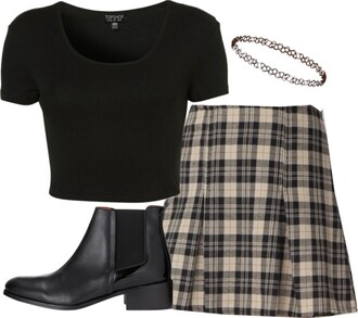 skirt plaid skirt plaid skater skirt mini skirt vintage clueless shoes