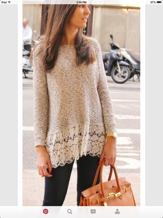 sweater lace