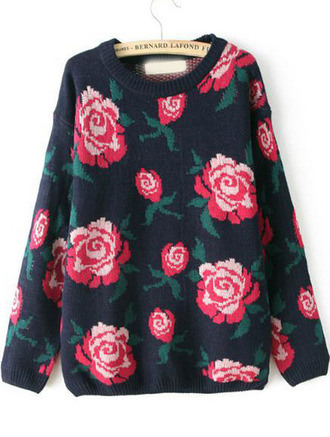 floral sweater floral sweater roses