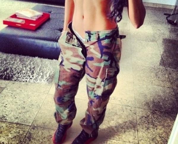 pants baggy camouflage air jordan swag