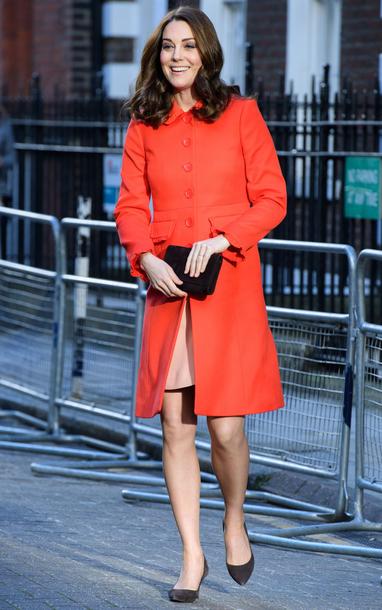 coat kate middleton red coat