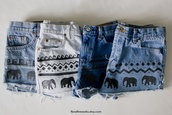 shorts,elephant,shirt,elephants shorts