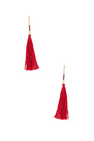 tassel red jewels