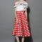 Atractiva falda línea a en cuadros rojos - retro, indie and unique fashion