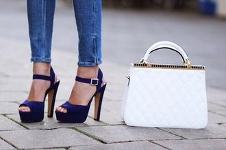 shoes blue shoes sandals sandal shoes crystal pumps heels blue heels blue pumps hight heels red sole shiny sparkle high heels