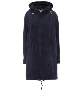 parka cotton blue coat