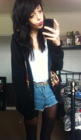 harry potter jacket black griffindoor ithink girl emo style swag alternative rock