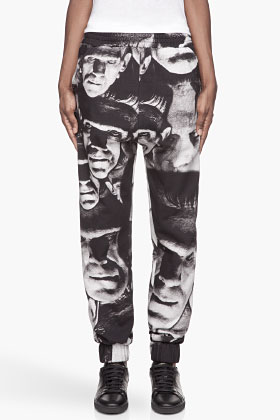 Christopher Kane Black And Grey Frankenstein Track Pants for women | SSENSE