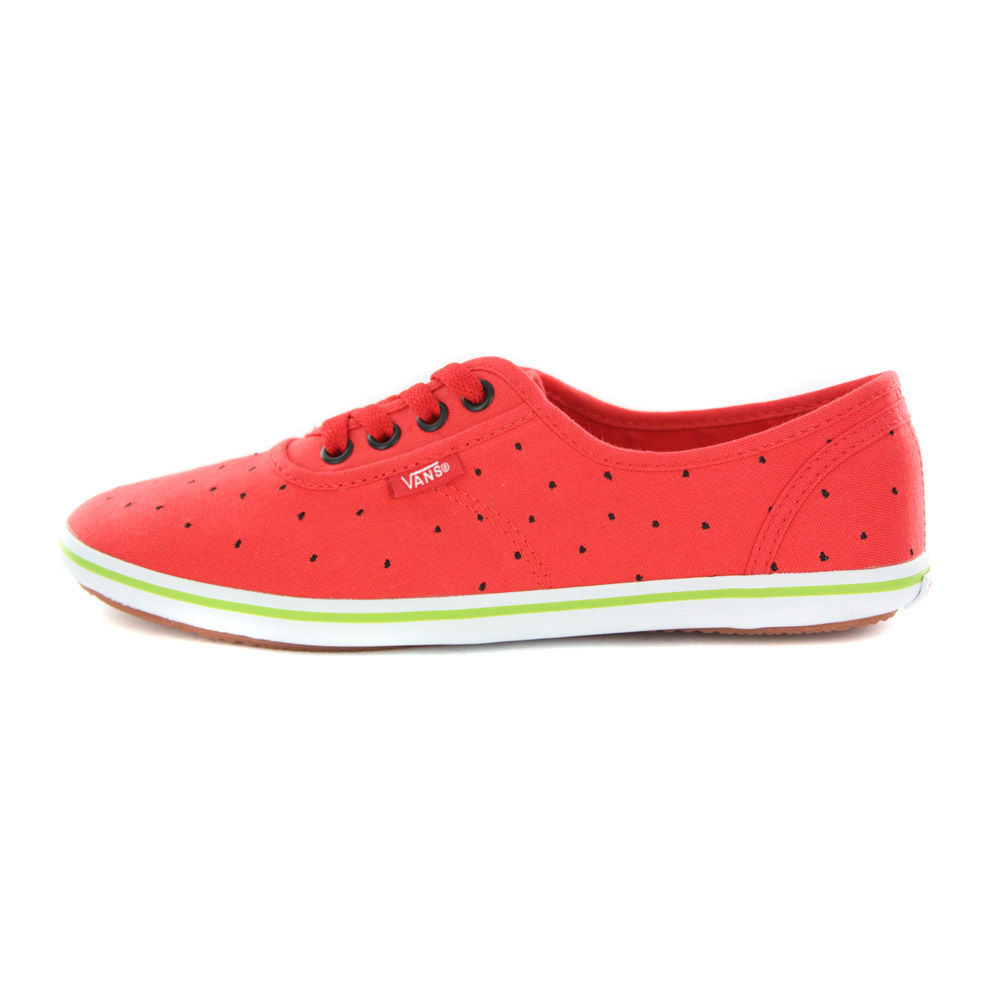 Vans Cedar Watermelon Red Canvas Womens RARE Trainers | eBay