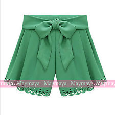 Hollow Bow Belt Mini Hot Shorts with High Waist | eBay