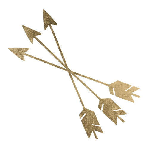 Gold crossed fashion tats arrows