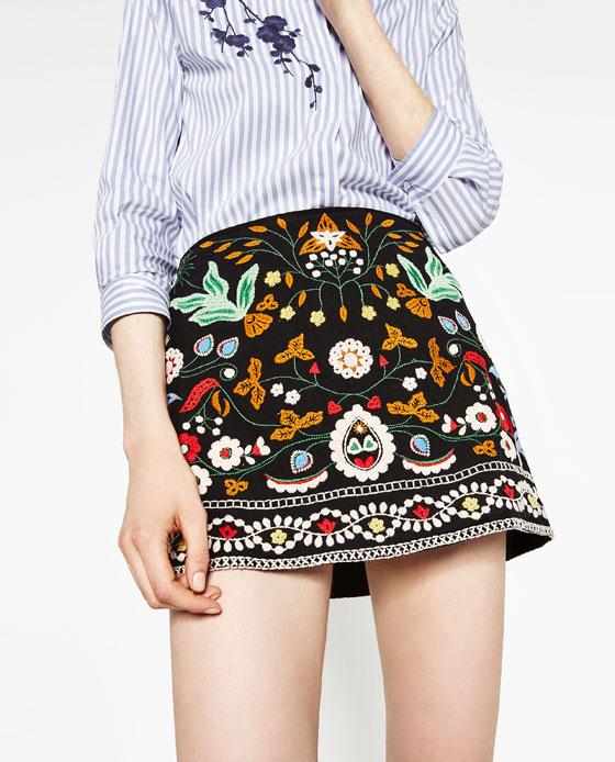 Zara Mini Skirt Women's Clothing Skirts