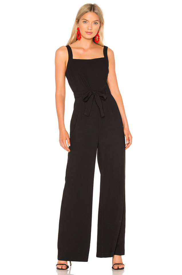cupcakes and cashmere Chandra Jumpsuit in black