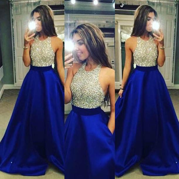 Dress Silver Dress Sparkly Dress Royal Blue Royal Blue Dress