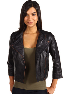 Scotch & Soda Washed Zipper Detailed Biker Jacket Black - Zappos.com Free Shipping BOTH Ways