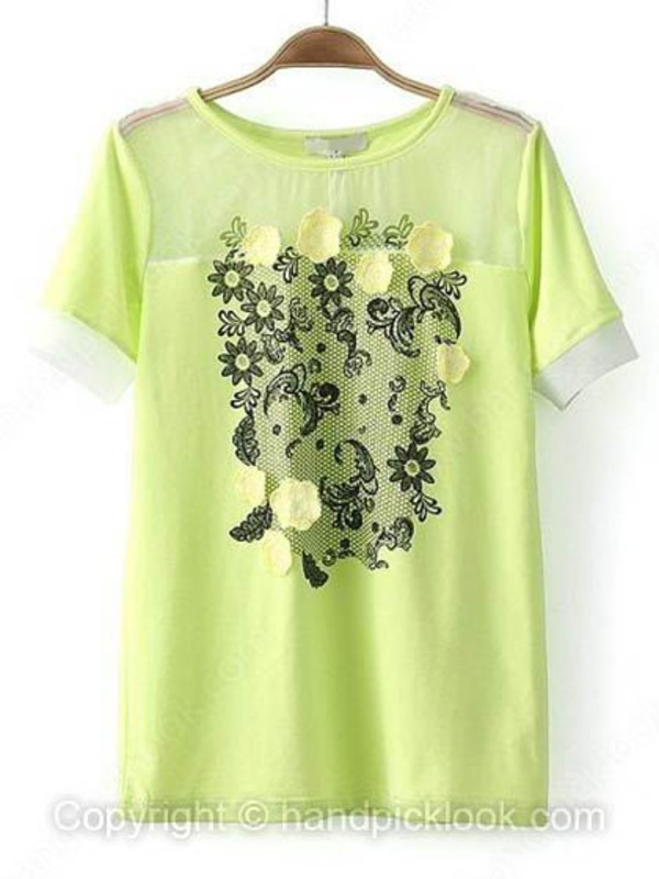 t-shirt green top