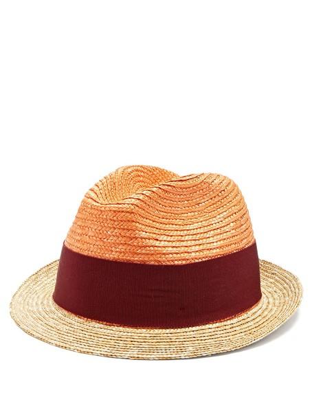 Prada hat straw hat orange