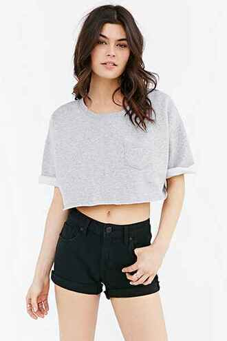 shirt urban outfitters cropped