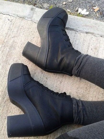 shoes grunge high heels boots punk punk shoes punk boots black shoes black boots