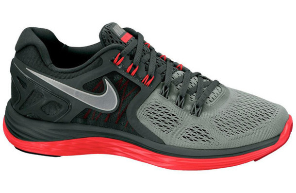 shoes lunareclipse cute free run nike red running shoes running boots freerunners black grey lace tick