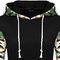 Stylish women casual camouflage sleeve hooded cotton sweatshirt - newchic