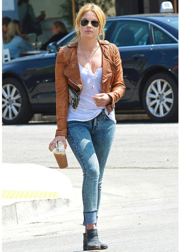 jacket ashley benson jeans