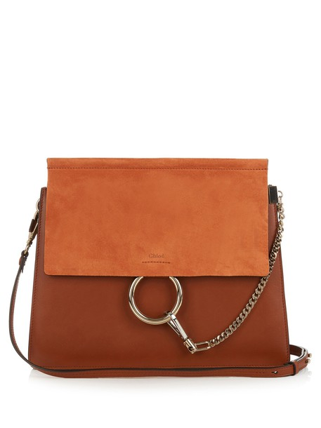 Chloe bag shoulder bag leather suede tan