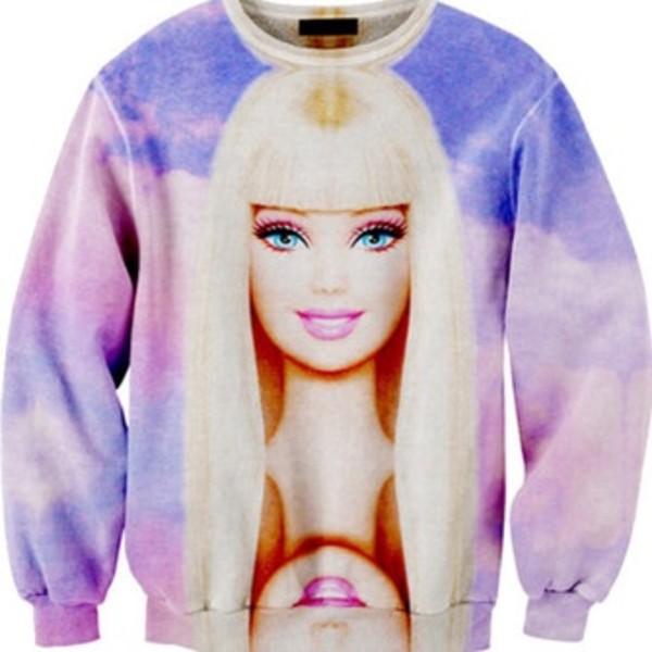 sweater barbie top barbie sweatshirt blouse