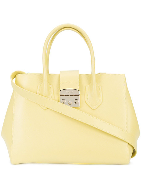 women bag tote bag leather yellow orange