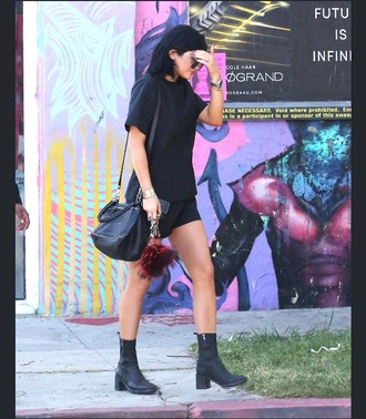 shoes t-shirt casual kylie jenner cool co-ordinates top