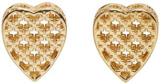 heart earrings heart earrings gold jewels