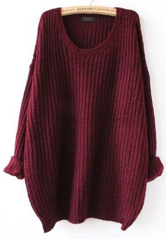 burgundy big sweaters sweater knitted sweater holiday gift