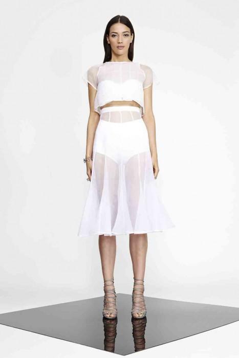 Perspex Heart Top in White  |  Lauren Damelian