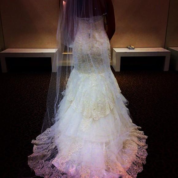 dress wedding dress white dress wedding clothes gold white