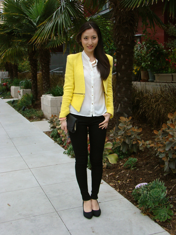 J'adore Fashion: I LOVE ZARA YELLOW BLAZER!