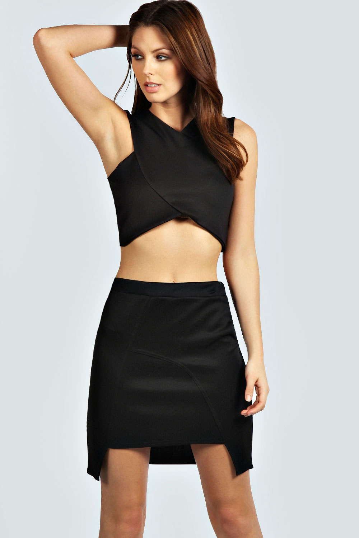 Emily Asymmetric Bodycon Skirt