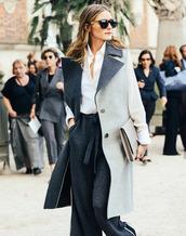 coat,olivia palermo,fashion week 2014,streetstyle,pants