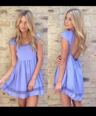 summer dress backless purple dress