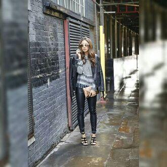leggings maniere de voir tie side leather effect faux lace up pants
