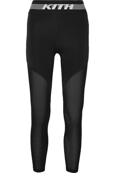 Kith - Cody Cooling mesh-paneled stretch-jersey leggings