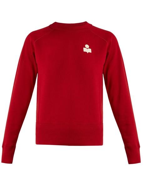 sweatshirt cotton red sweater