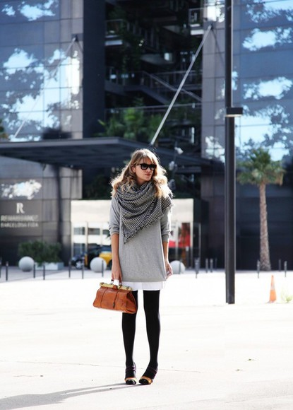 my daily style shoes bag dress sweater scarf shirt