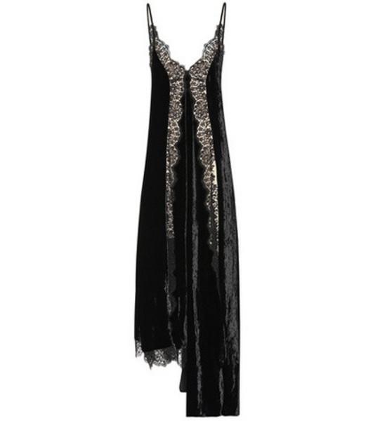 Stella McCartney Lace and velvet dress in black