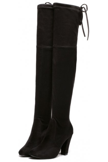 Heels Point Head Tied Up Boots Women Shoes